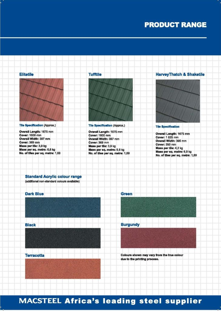 Harvey rooftile at Middelburg Dakkappe info sheet 2